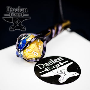 D20 Dragon's Claw Pendant (Blue & Yellow)