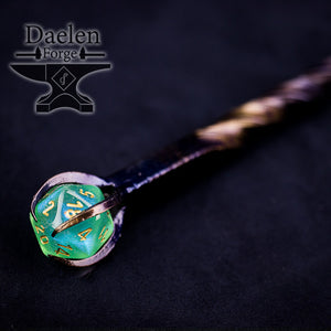 D20 Gamers Wand - Hand Forged For Critical Success