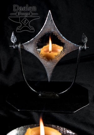 Fallen Star Scrying Mirror - Quenched in Quartz Moon Waters