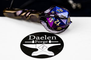 D20 Dragon's Claw Pendant (Blue & Purple)