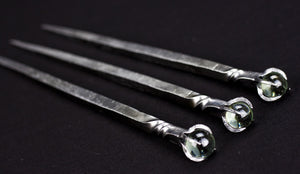 Crystal Ball Hair Pins