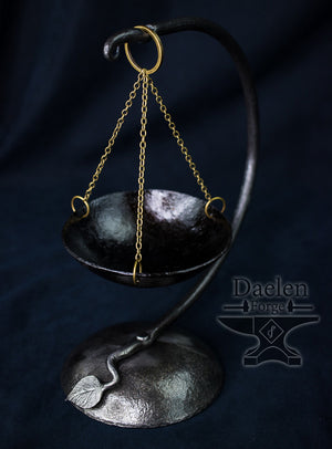 Suspended Forged Altar Bowl