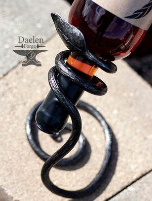 Forged Decorative Wine Bottle Holders