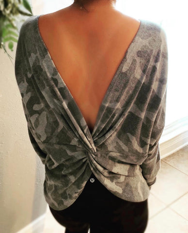 Camo twisted Sweater