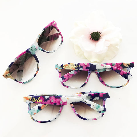 Floral Sunglasses- Bridal Party