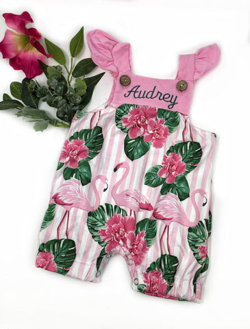 Flamingle Romper