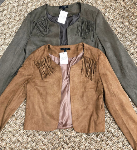 Suede Cropped Jacket