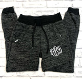 Monogrammed Joggers