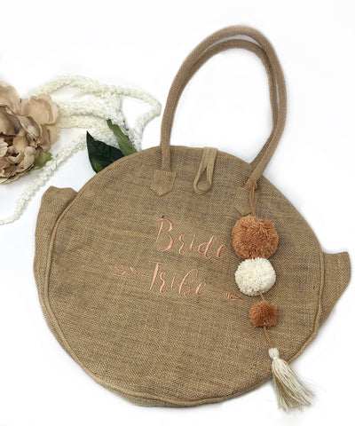 Bride Tribe Burlap Totebag