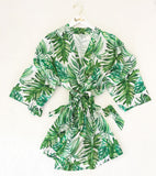 Palm Leaf Cotton Robe