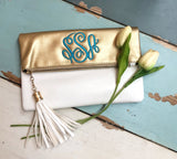 Fancy Foldover Clutch - 2 colors