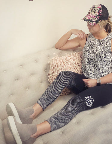 Monogrammed Athletic Leggings