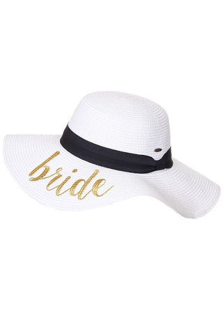 Straw Bridal Beach Hat