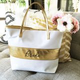 Bridal Party Gold Stripe Bag