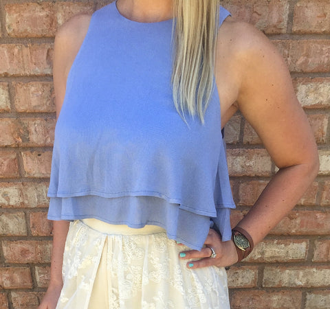 Fly Away Crop Top- 2 colors