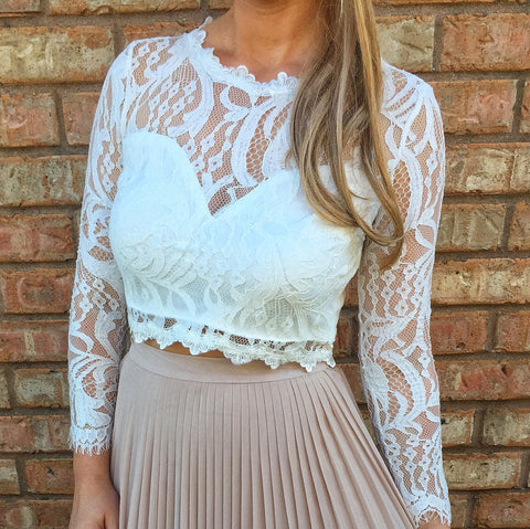 Genesta Lace Crop Top
