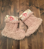 Reindeer Furry Slipper Boot- 3 colors