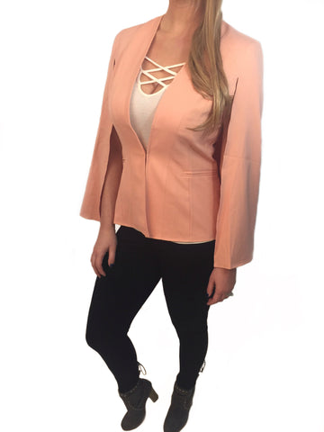 Salmon Cape Blazer