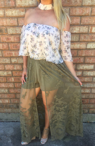 Dentelle Maxi Shorts- 2 colors