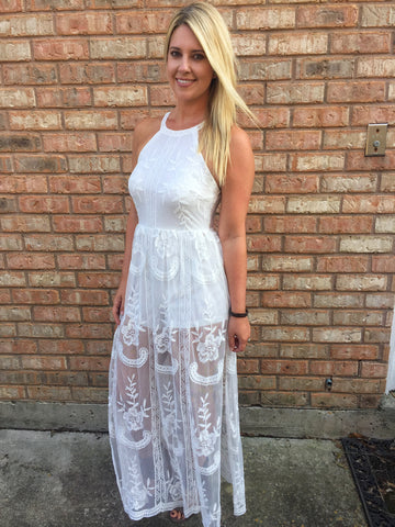 Boho Blooming Lace Maxi Romper