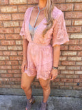 Boho Blossom Lace Romper- 2 colors