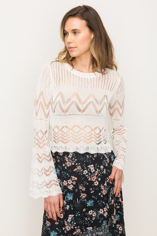 Pointelle Crop Top
