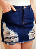 Ada Denim Mini Skirt