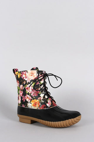 Floral Duck boots