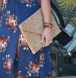 Oversized Cork envelope clutch