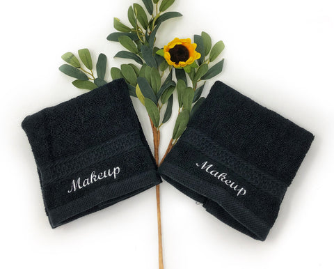 Embroidered Makeup Towel