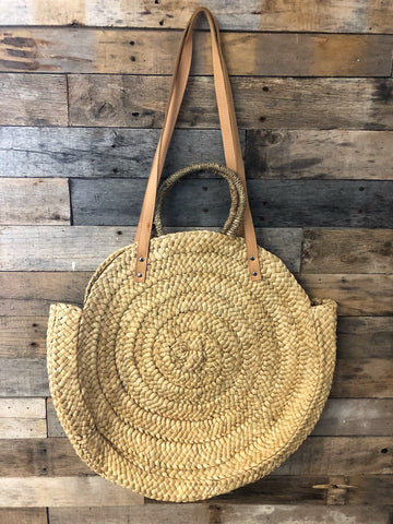 Kalisa Wicker Straw Tote