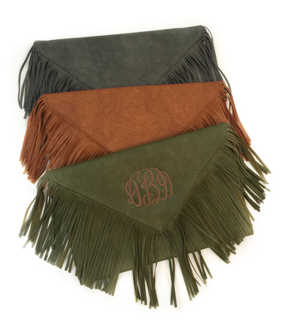 Oversized Fringe Clutch - 3 colors