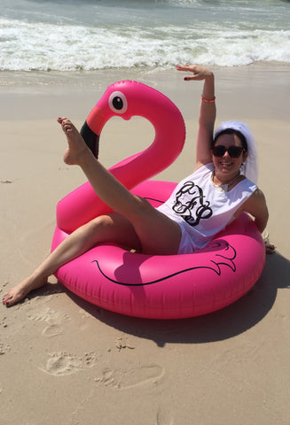 Flamingo beach Floatie