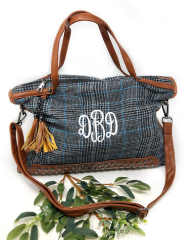 Flora Plaid Handbag
