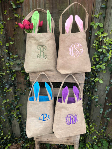 Easter Burlap bag