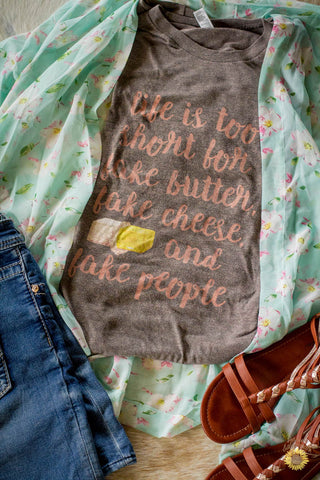 Fake Butter, Cheese, or People Vintage Shirt Unisex Style