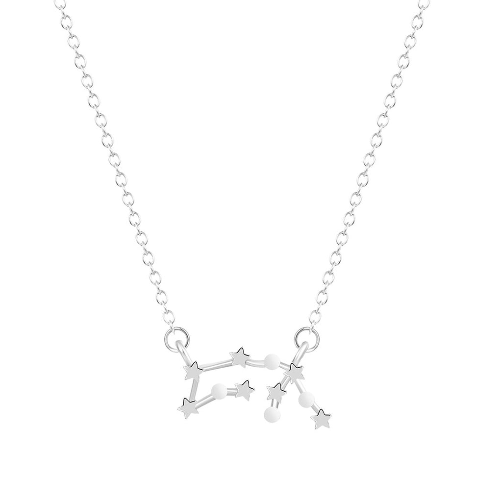 Aquarius Zodiac Necklace, Necklace, Modestly