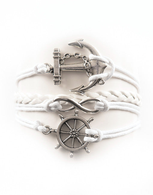 Anchor, Infinity, Wheel, Bracelet, Modestly