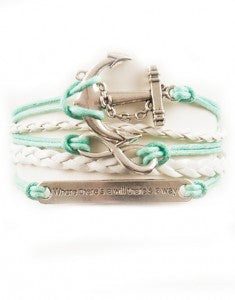 "Anchor, Infinity, ""Will"" Saying, Bracelet, Modestly"