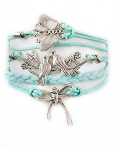 Butterfly, Birds, Bow, Bracelet, Modestly