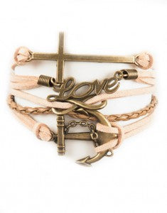 Cross, Love, Infinity, Anchor, Bracelet, Modestly