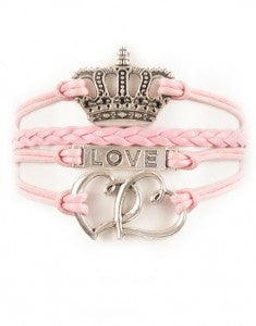 Crown, Love, Hearts, Bracelet, Modestly