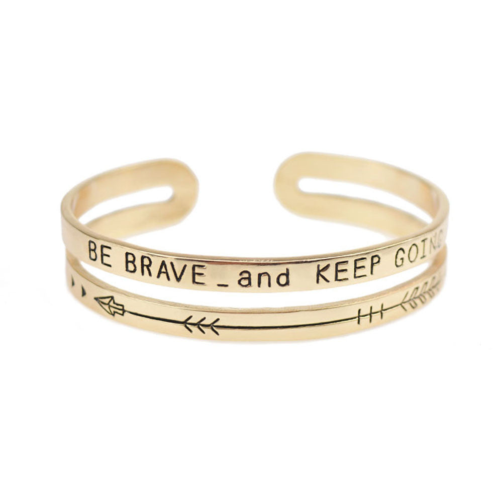 'Be Brave and Keep Going' Band, Bangle, Modestly