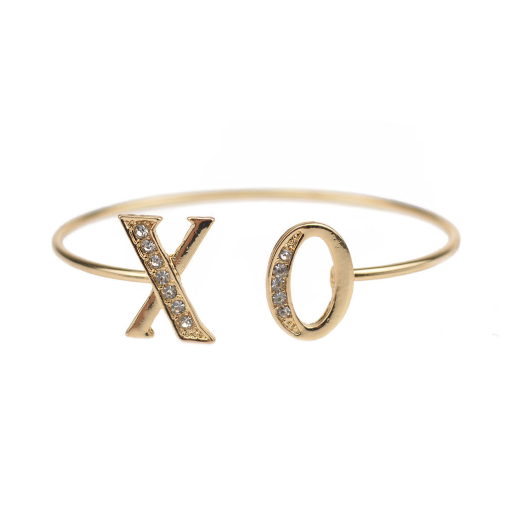 Pave 'XO' Open Bangle, Bangle, Modestly