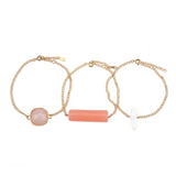Layered Quartz Bracelets - 3 piece set, Bracelet, Modestly