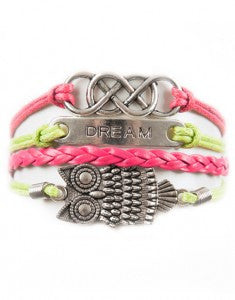 Double Infinity, Dream, Owl, Bracelet, Modestly