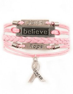 Breast Cancer Awareness, Bracelet, Modestly