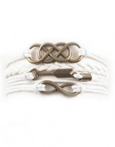 Infinity, Arrow, Interlocking Infinity, Bracelet, Modestly