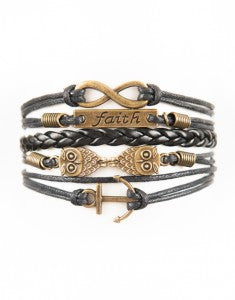 Infinity, Faith, Owls, Anchor, Bracelet, Modestly