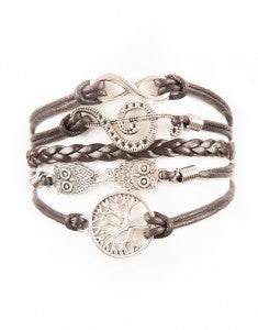 Infinity, Music Note, Owls, Tree, Bracelet, Modestly